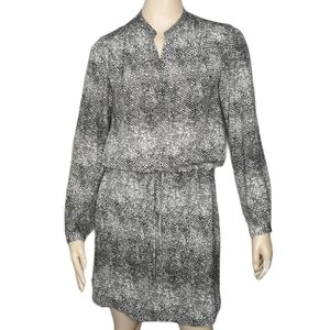 Hilary Radley Hi-Lo Shirt Style Long Sleeve Dress